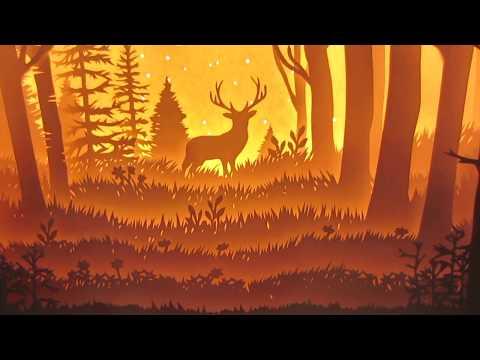 Papercut Lightbox NNT: Chú hươu trong rừng sâu