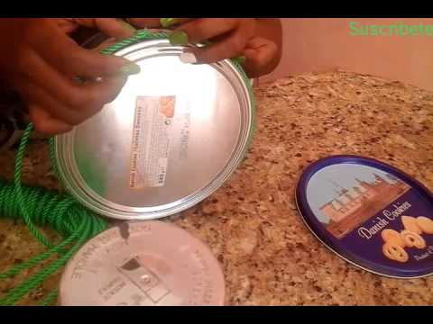 Manualidades reciclando caja de galletas youtube - Como decorar una caja de metal ...