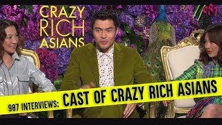 987 Interviews the Cast of Crazy Rich Asians - Henry Golding, Constance Wu and Michelle Yeoh