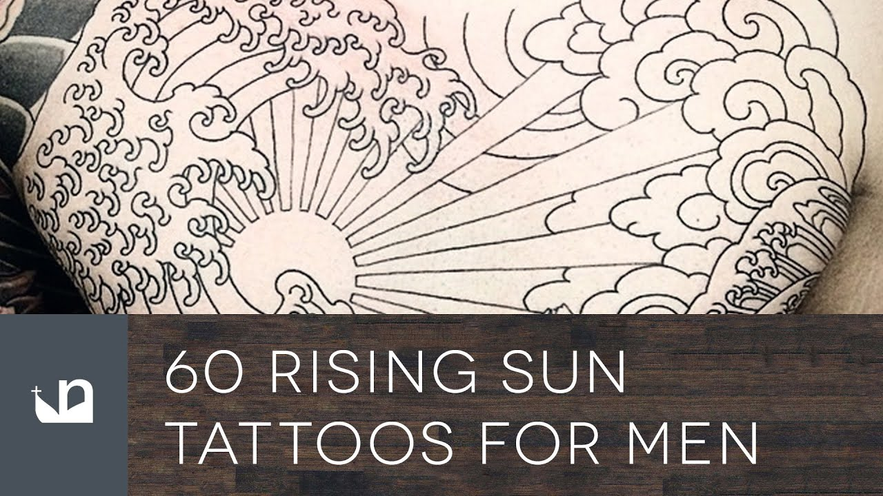 60 rising sun tattoos for men youtube. Black Bedroom Furniture Sets. Home Design Ideas