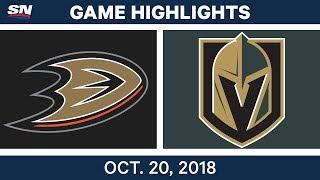 NHL Highlights | Ducks vs. Golden Knights - Oct. 20, 2018
