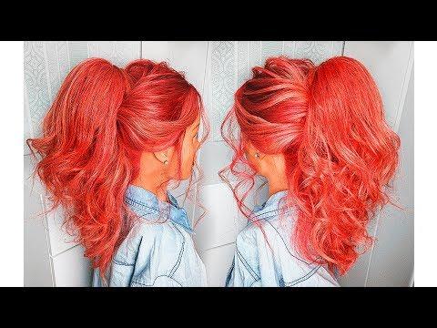 Как сделать ВЫСОКИЙ ОБЪЕМНЫЙ ХВОСТ на средние волосы?ПРИЧЕСКИ 2018💛 How To: Big Voluminous Ponytail