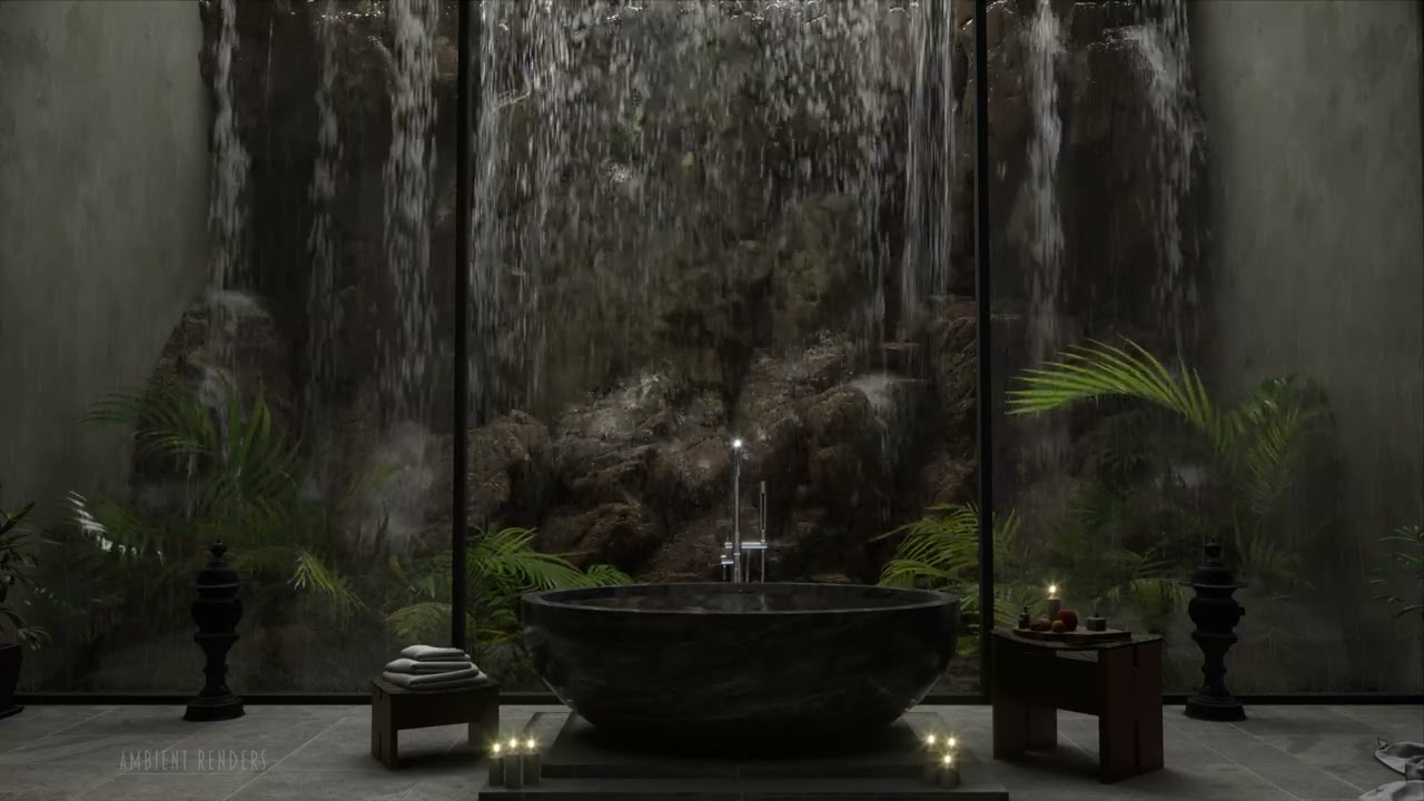Download Relax With Your Own Private Waterfall & Spa | Waterfall Sounds For Zen Meditation or Sleeping
