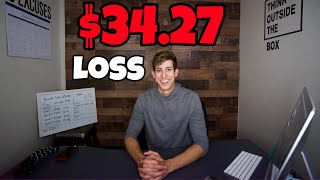 $34.27 Loss On My TD Ameritrade Account | Challenge Update