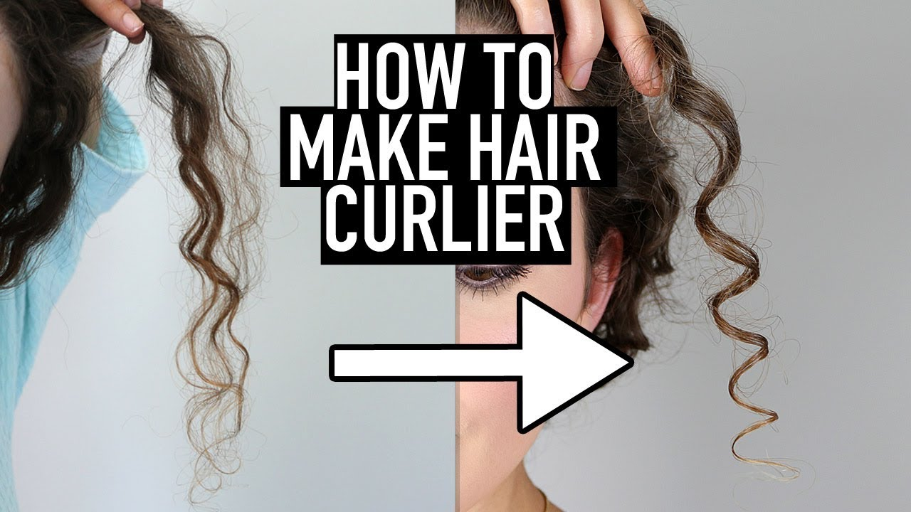 How To Make Hair Curlier 10 Tips For Tighter Defined Curls Youtube