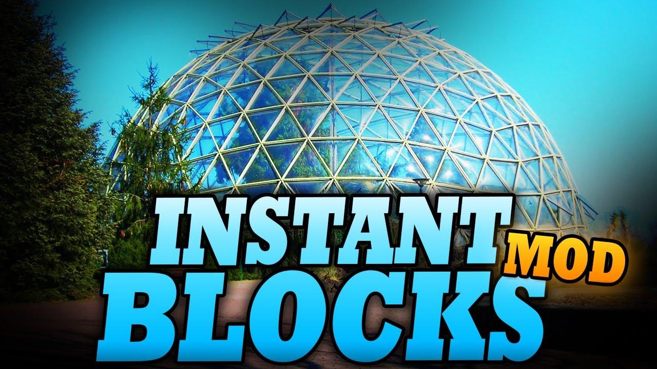 Instant Blocks Mods Minecraft Curseforge