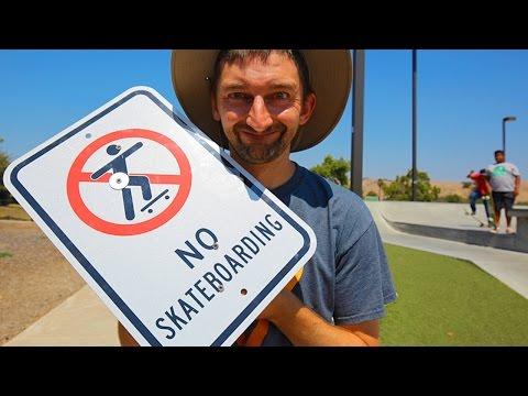 NO SKATEBOARDING SIGN | SKATE EVERYTHING EP 40
