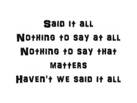 Take That Said It All Lyrics
