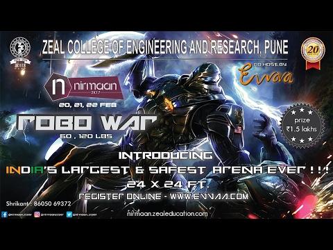 Robowar 2k17: Organised By Zeal College Of Engineering & Evvaa Technologies (Final Day)