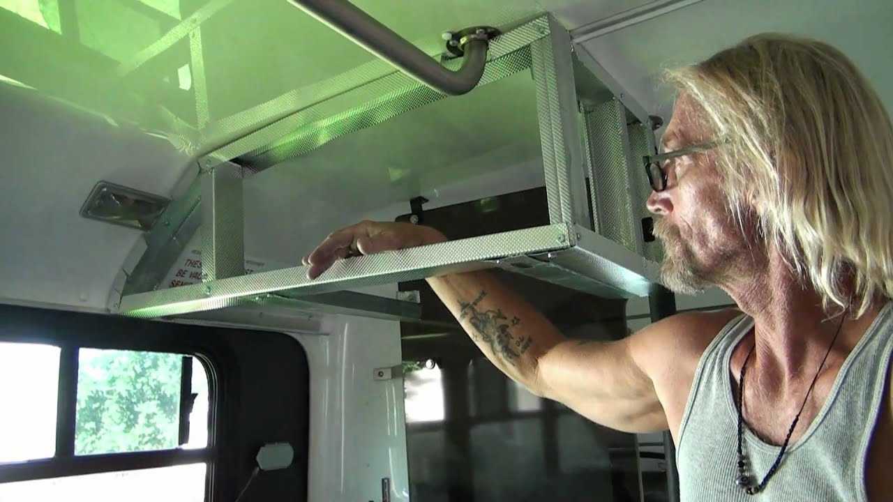 Convert Bus Cabinets Youtube