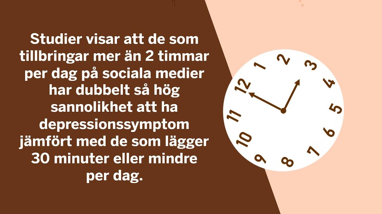 sociala mediers påverkan på hälsan