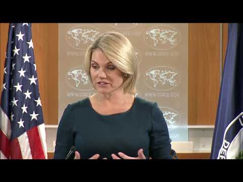 Department of State Press Briefing with Spokesperson Heather Nauert, at the Department of State!