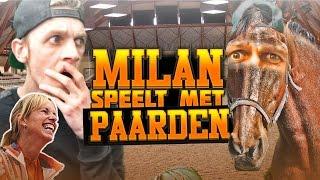 MILAN SPEELT.. MET PAARDEN