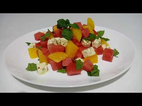 WATERMELON, ORANGE & FETA CHEESE SALAD ♥ Healthy Fresh Fruits Salad ♥ Maki Mikey ♥ VLOG #45