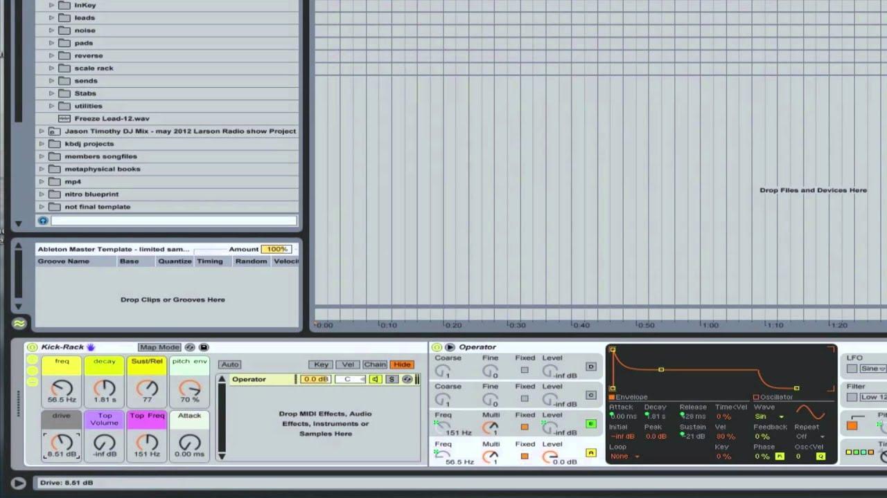Ableton Ultimate Master Template - Kick Drum Rack | Ableton Tutorial ...