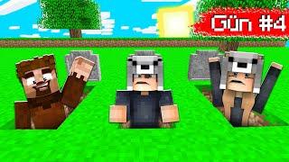 MEZARDAN SON KAÇAN KAZANIR! 😱 - Minecraft