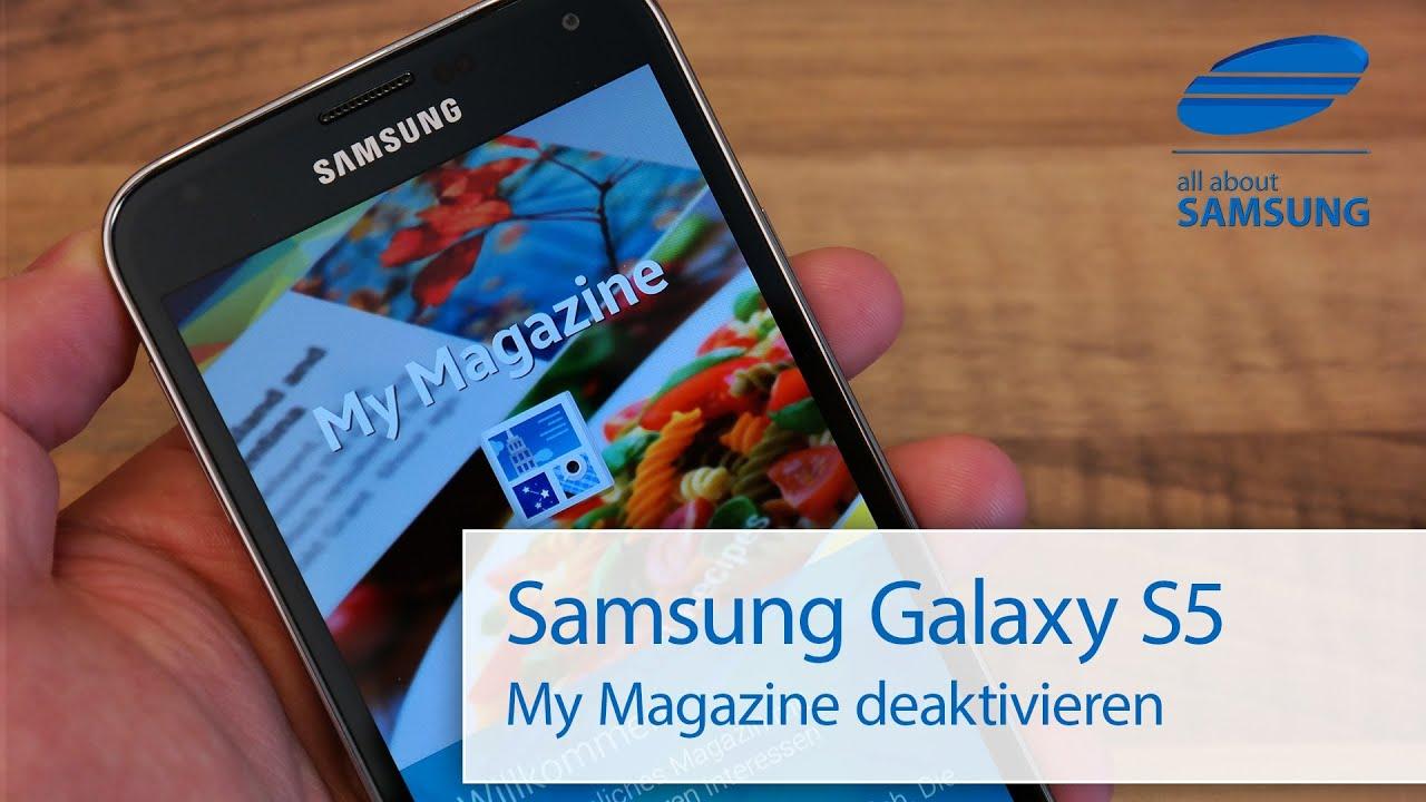 how to delete my magazine galaxy s5
