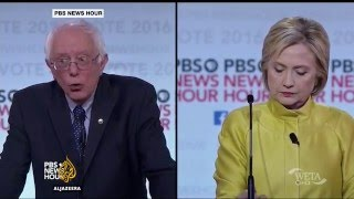 US elections: Clinton and Sanders face off in debate