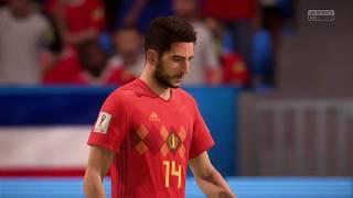 2018 FIFA World Cup Russia - Belgium vs Costa Rica (Full Gameplay)