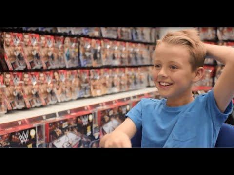 Smyths Toys - Joshua Meets WWE Superstar's AJ Styles, Sami Zayn And Becky Lynch