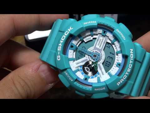how to set hands on g shock ga 110