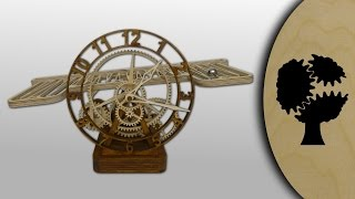 Repeat youtube video Serpina - Holz-Kugellaufuhr (Wooden Rolling Ball Clock)