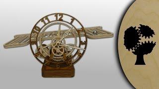 Serpina - Holz-kugellaufuhr (wooden Rolling Ball Clock)