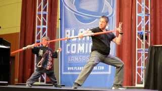Ray Park Lightsaber Demonstration