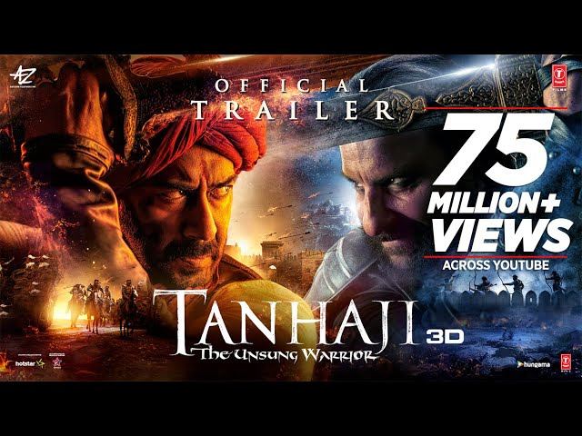 Tanhaji: The Unsung Warrior - Official Trailer | Ajay D, Saif Ali K, Kajol | Om Raut | 10 Jan 2020