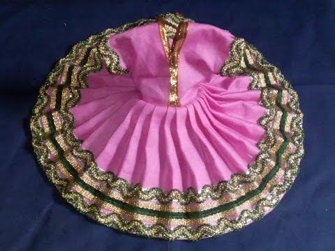 How to make dress (पोशाक) of Bal Gopal / Ladoo Gopal / Kanah ji / Krishna - Poshak making