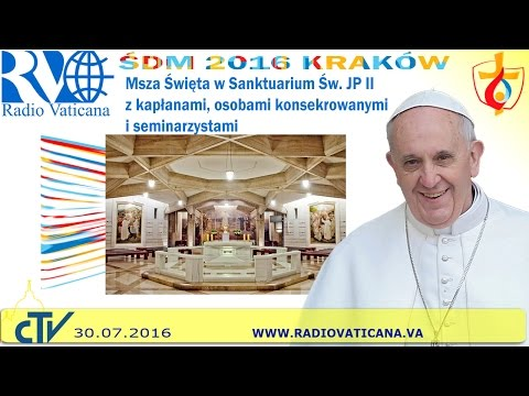 Pope Francis in Poland, Holy Mass at the Shrine of St. John Paul II