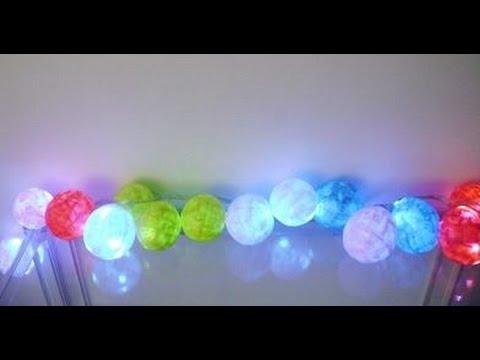 Guirnalda de luces decorativas youtube - Guirnaldas de luces ...