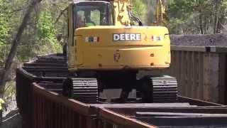 John Deere Dropping Ties on CSX MOW Train