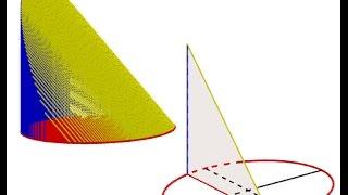 hallar el volumen de un solido de base eliptica