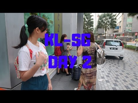 DAY 2: Cross the Border & Travel Overland via Bus to Singapore   KL-SINGAPORE VLOGS