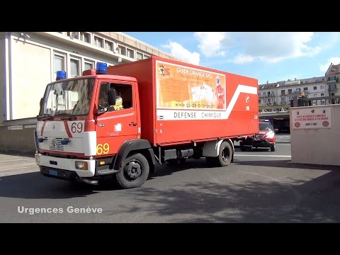 Pompiers Genève véhicules 51, 69 et 4 // Geneva fire dept. vehicles 51, 69 and 4