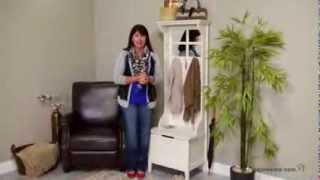 Richland Mini Hall Tree - Antique White - Product Review Video