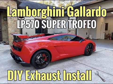 Lamborghini Gallardo DIY Exhaust Install