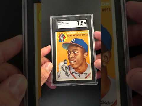 1954 Topps Hank Aaron Rookie Rc 128 Sgc 75 Nrmt Pwcc E Ends 71519