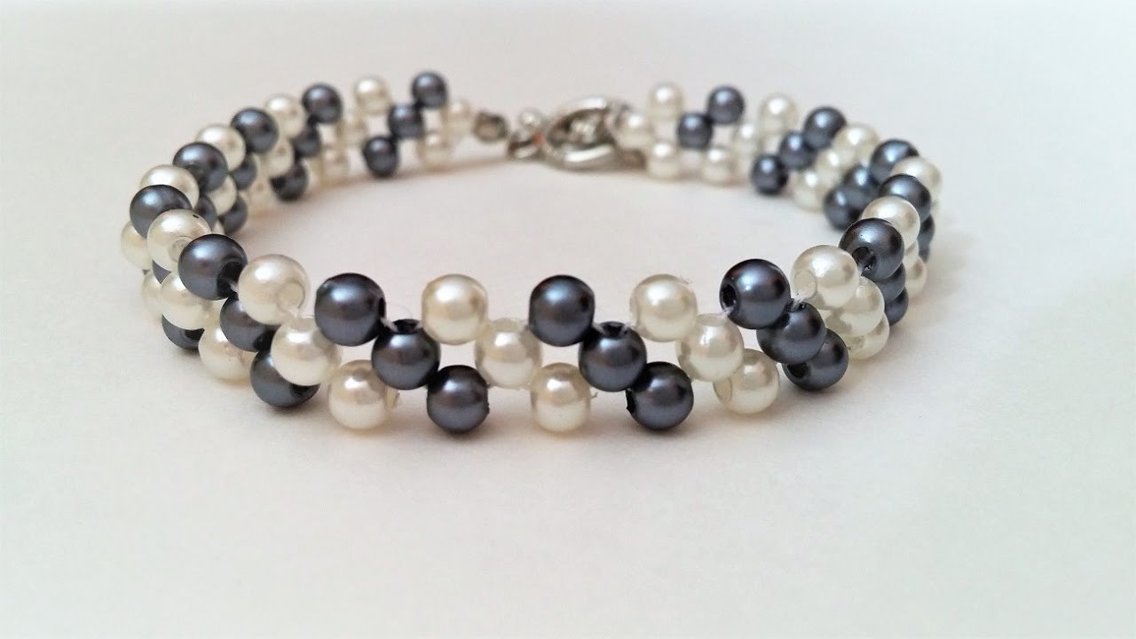 Easy Beading Pattern For Beginners Mothers Day Diy Bracelet Youtube