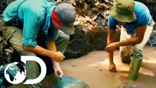 Parker Learns How To Prospect For Gold Guyana Style   Gold Rush: Parker's Trail