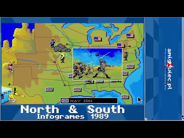 North & South [ Intro, Gameplay, Ending - Amiga 50FPS HD ]