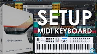 setup a MIDI keyboard controller in Presonus Studio One