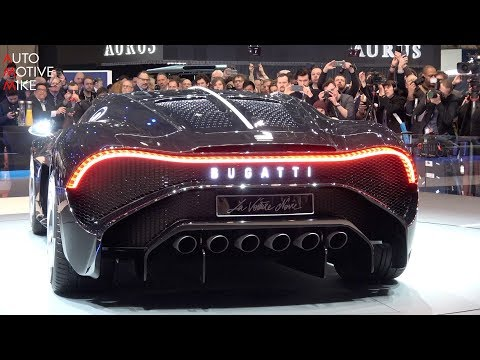 WORLD PREMIERE: € 16.7 MILLION BUGATTI LA VOITURE NOIRE - GE