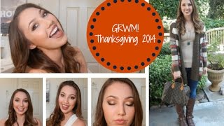 Get Ready With Me! Thanksgiving 2014 - Makeup & Outfit w/2 Lip Looks Thumbnail