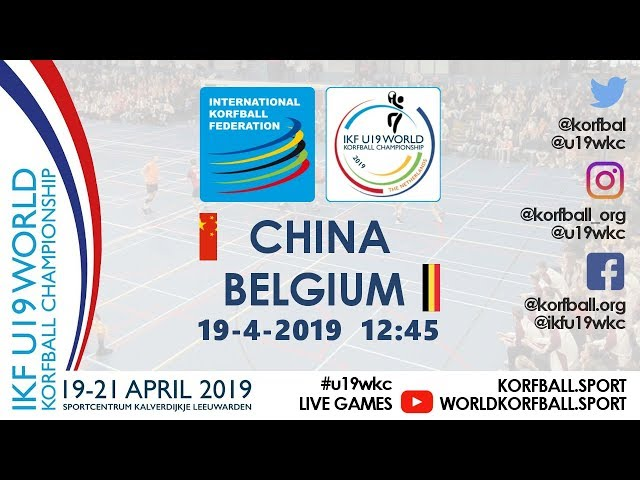 IKF U19 WKC 2019 CHN - BEL