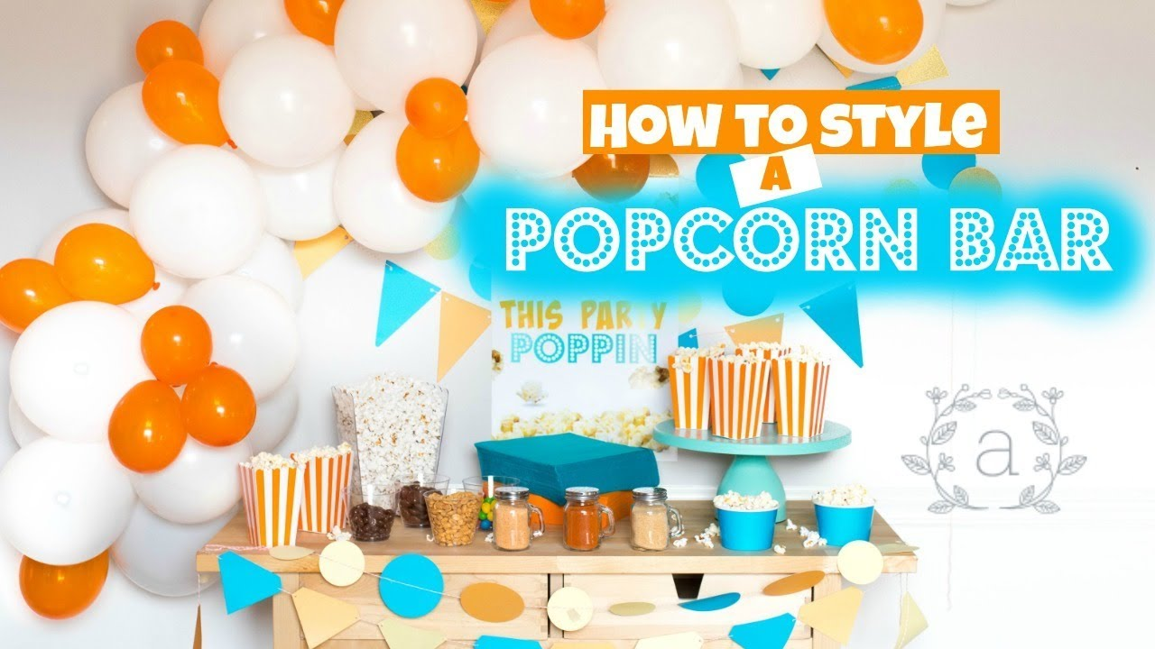 Popcorn Bar How To Style Youtube Stardust Caramel