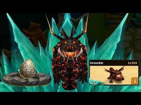 Gronckle max level 124 titan mode-common dragon//Dragons rise of Berk