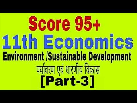 Environment & Sustainable Development [Part-3], Class 11 Economics, Strategy