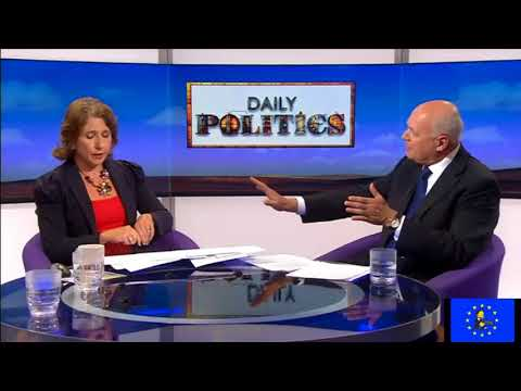 Brexit fallout: Iain Duncan Smith flattened on the Daily Politics by Johnson's Brexit Bus